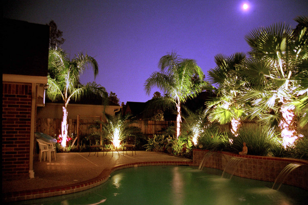 Outdoor Lighting by the Pool